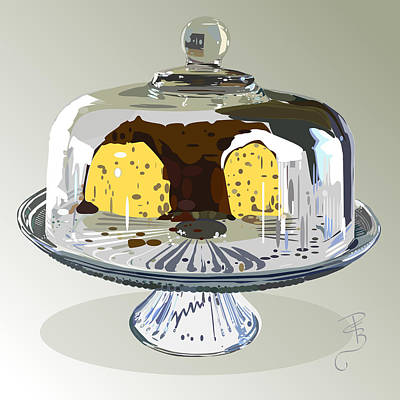 Cake Under Glass Poster