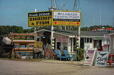 Calabash Fishing Boat Dock Poster by Sandi OReilly