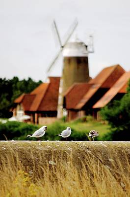 Caldecotte Windmill Poster by Simon Nash