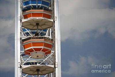 Poster featuring the photograph Calgary Stampede Ferris Wheel by Wilko Van de Kamp