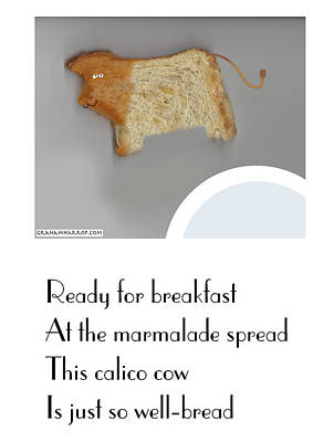 Calico Cow Poster