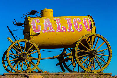 Calico Water Wagon Poster by Garry Gay