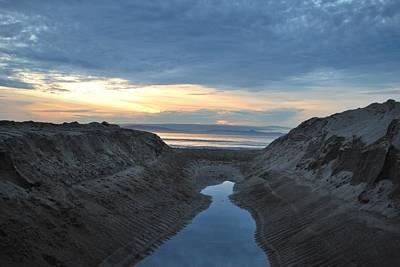 California Beach Stream At Sunset - Alt View Poster