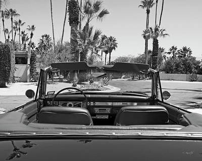 California Cruisin B And W Poster by Cheri Randolph