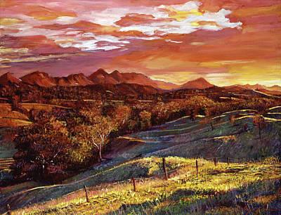 California Dreaming Poster by David Lloyd Glover