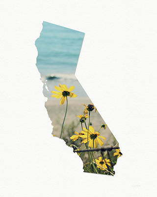 Poster featuring the mixed media California Dreams Art By Linda Woods by Linda Woods