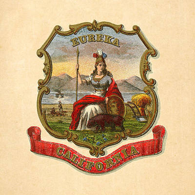 California Historical Coat Of Arms Circa 1876 Poster by Serge Averbukh