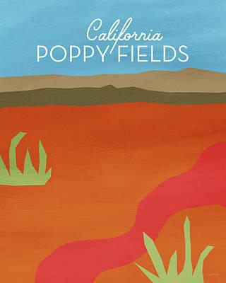 California Poppy Fields- Art By Linda Woods Poster