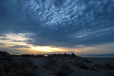 California Rocky Beach Sunset  Poster
