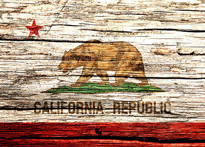 California State Flag 2w Poster
