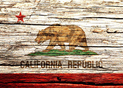 California State Flag 4w Poster