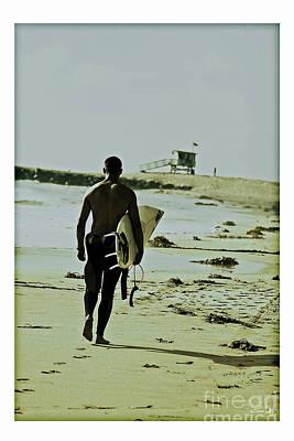 California Surfer Poster by Scott Pellegrin