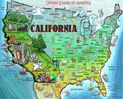 California Usa Poster