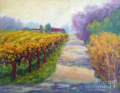 California Wine Country Poster by Carolyn Jarvis