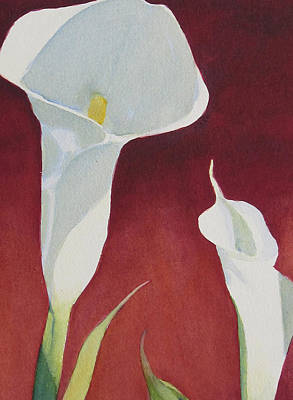 Poster featuring the painting Calla II by Judy Mercer