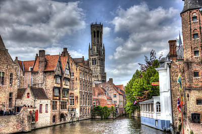 Calm Afternoon In Bruges Poster by Shawn Everhart