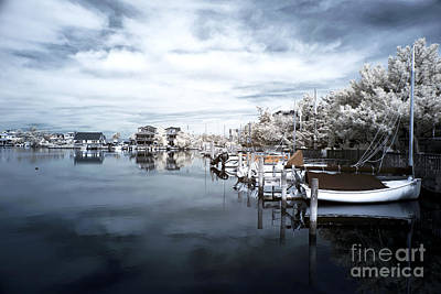 Calm At Lbi Blue Infrared Poster by John Rizzuto
