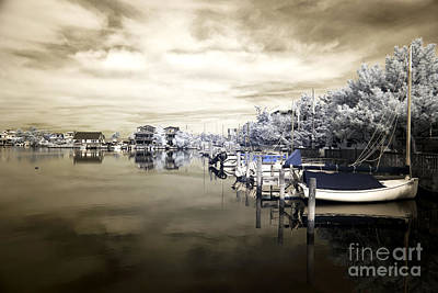 Calm At Lbi Infrared Poster by John Rizzuto