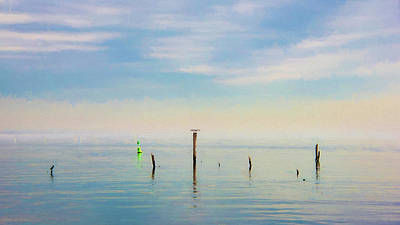 Poster featuring the photograph Calm Bayshore Morning N0 2 by Gary Slawsky