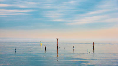 Poster featuring the photograph Calm Bayshore Morning N0 3 by Gary Slawsky