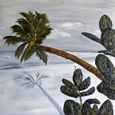 Calm Beach Palm Poster