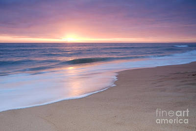 Calm Beach Waves During Sunset Poster