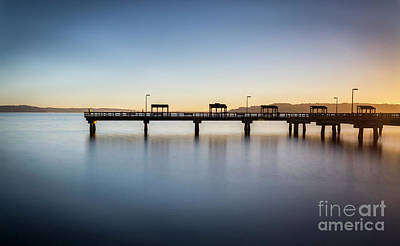 Calm Morning At The Pier Poster
