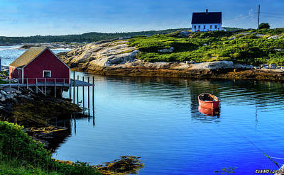 Calm Water At Peggys Cove #3 Poster by Ken Morris
