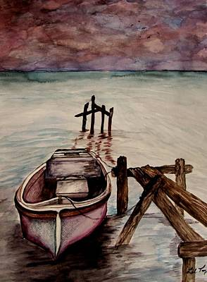 Poster featuring the painting Calm Waters by Lil Taylor