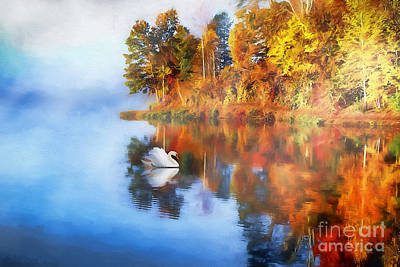 Calm Waters Of Autumn Poster