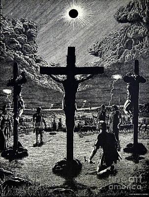 Calvary Scene Poster by Robert Davies