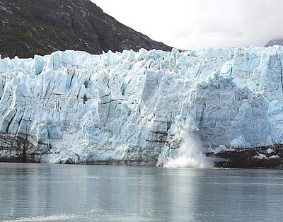 Calving Glacier Poster