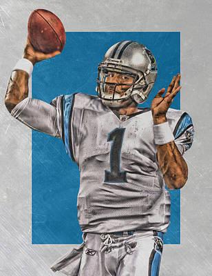 Cam Newton Carolina Panthers Art 2 Poster by Joe Hamilton