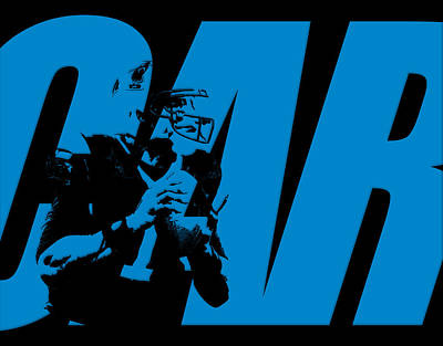 Cam Newton Carolina Panthers Poster by Joe Hamilton