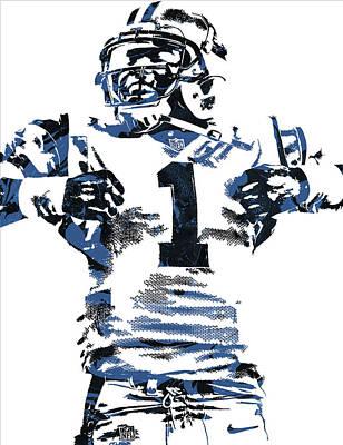 Cam Newton Carolina Panthers Pixel Art 6 Poster by Joe Hamilton