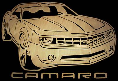 Camaro - Scrolled Poster by Michael Bergman
