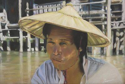 Cambodia Salesman  Poster by Leonor Thornton