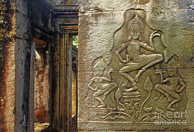 Cambodian Temple Detail - 2  Poster