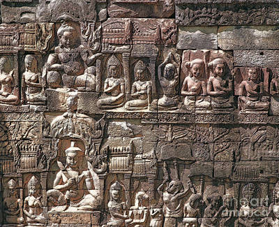 Cambodian Wall - 13 Poster