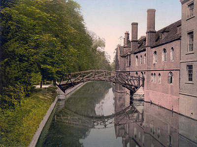 Cambridge - England - Queens College Bridge Poster by International  Images