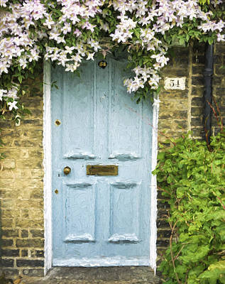 Cambridge Doorway 54 Painterly Effect Poster by Carol Leigh