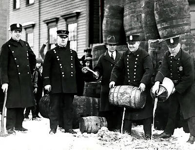 Cambridge Police Dump Prohibition Kegs And Jugs Poster