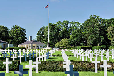 Poster featuring the photograph Cambridge England American Cemetery by Alan Toepfer