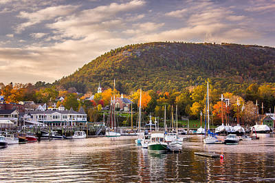 Camden Harbor In The Fall Poster