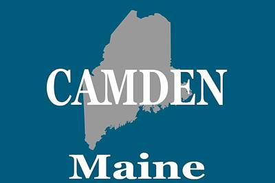 Poster featuring the photograph Camden Maine State City And Town Pride  by Keith Webber Jr