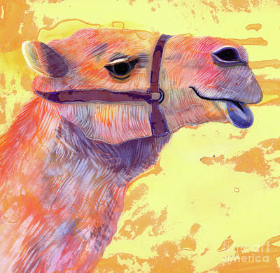 Camel Poster by Jane Tattersfield