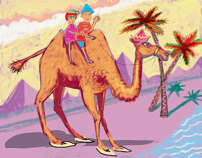 Camel Ride Poster by Annabel Lee