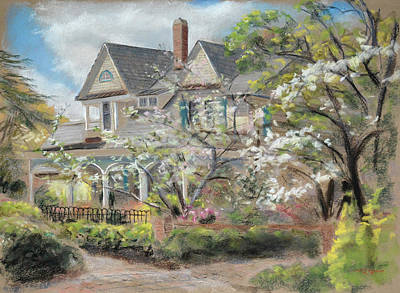 Camellia Cottage Poster by Christopher Reid