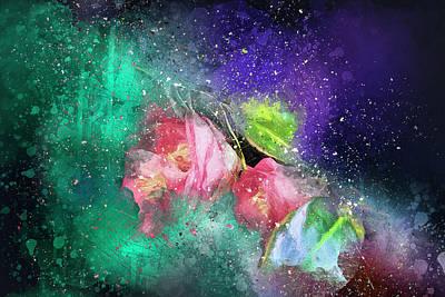 Camellias In A Galaxy Far Far Away Poster