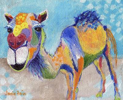 Poster featuring the painting Camelorful by Jamie Frier